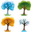 Season trees - Stock Vector