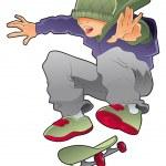 Постер, плакат: Skater boy