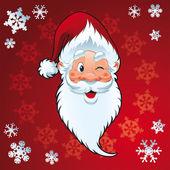Santa claus - carte de Noël — Vecteur