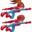 Young superheroes. — Stock Vector