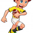 Rugby player. — Stock Vector