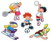 Sport characters. — Stock Vector