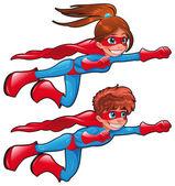 Jonge superhelden. — Stockvector