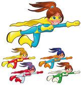 Jóvenes superhéroes. — Vector de stock