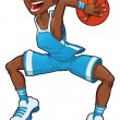 Basketball boy. — Stock Vector