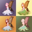 Stock Vector: Young fairies.