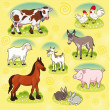 Farm animals. — Stock Vector #9783200
