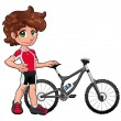 Stock Vector: Baby Cyclist.