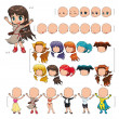 Постер, плакат: Avatar girl vector illustration isolated objects