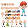 Stock vektor: Avatar boy, vector illustration, isolated objects.