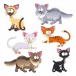 Family of cats. — Stock Vector