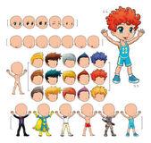 Avatar menino, ilustração vetorial, objetos isolados. — Vetorial Stock