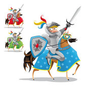 Knight and horse. — Stock Vector