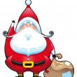 SantClaus with bag. — Stock Vector #9840324