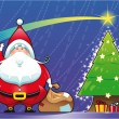 Royalty-Free Stock Imagen vectorial: Santa Claus with Christmas tree.