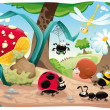 Insects family on ground. — Stock Vector #9840943