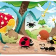 Insects family on the ground. — Stock Vector #9840943
