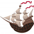 Galleon. — Vector de stock #9840945