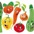 Vegetable family. — Stock Vector