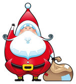 Santa Claus with bag. — Stock Vector