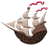 Galleon. — Stock Vector