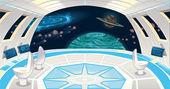 Spaceship interior. — Stock Vector