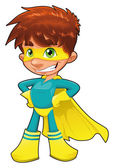 Young superhero. — Stock Vector