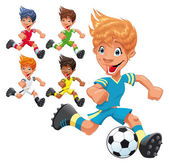 Soccer Players. — Stock Vector