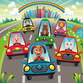 Traffic on the road. — Stock Vector