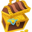 Treasure chest. — Stock Vector