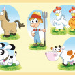 Farm Family — Stock Vector