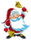 Santa Claus Playing Bells — Stock Vector