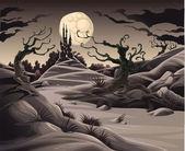 Horror landscape. — Stock Vector