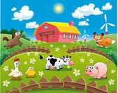 Ilustración de la granja. — Vector de stock