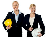 Young female architects — Stock Photo