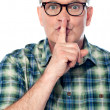 Be quiet... shhh — Stock Photo