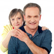 Portrait of happy aged smiling couple — Stock Photo