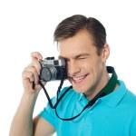 Youth photographer capturing images — Stock Photo #9672732
