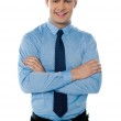 Portrait of a young male business executive — Stock Photo