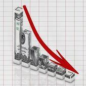 Dollar go down — Stock Photo