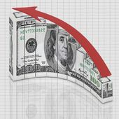 Dollar up concept — Stock Photo