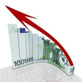 Euro growing concept — Stock Photo
