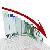 Euro crisis round corner — Stock Photo