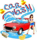 Car Wash — Stockvector