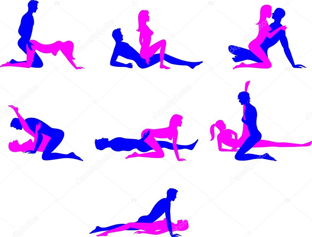 Sex positions 1 — Stock Vector #10225114