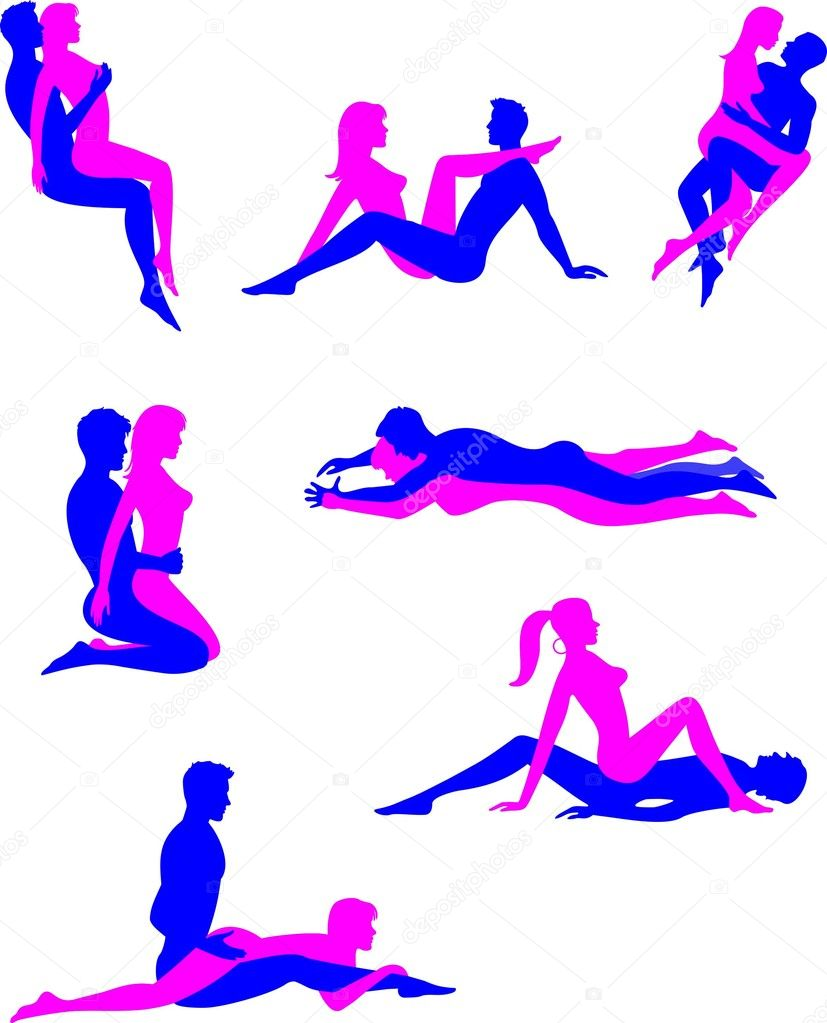 Drawing picture of sex positions sexual scene