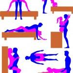 性别的立场 3 — 图库矢量图片