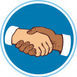 Shaking hands — Stock Vector