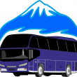 Stock Vector: Bus travel