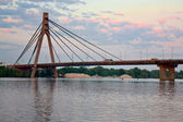Bridge across Dnieper — Stock Photo